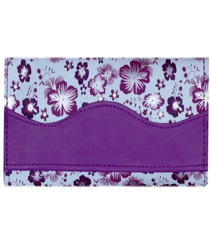 Home Zaara Designer Whitepurple Fashionable Premium Quality Unique Wallet For Women