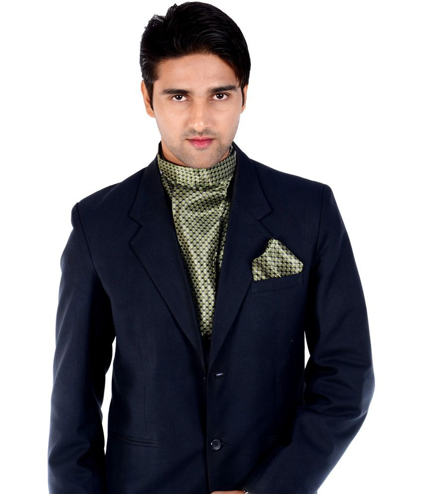b8dfa55859a00 Maxell Stylish Cravat With Matching Pocket Square In Shades Of Green And  Black Combo: Buy Online at Low Price in India - Snapdeal