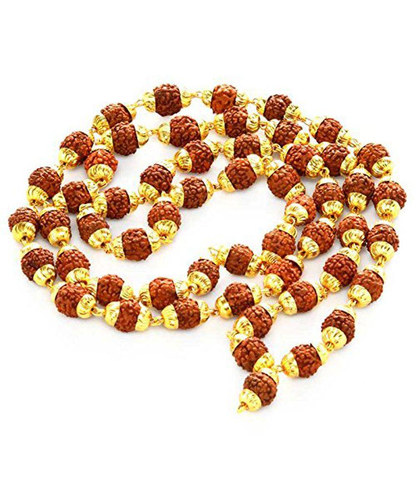Odishabazaar Rudraksha 5 Mukhi Japa Mala Rosary With
