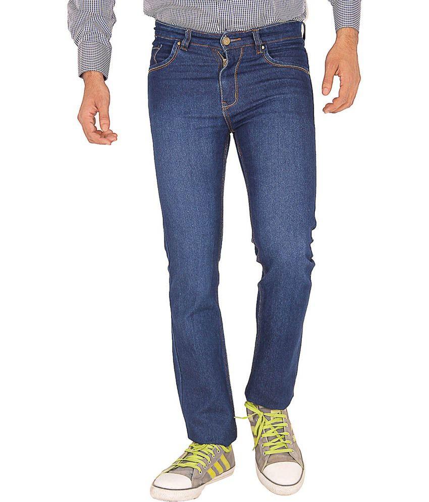 Crocks Club Blue Cotton Blend Basics Jeans