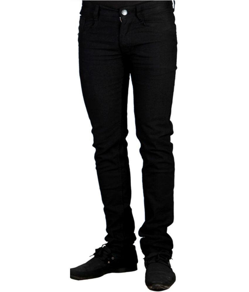 Haltung Black Cotton Regular Fit Denim Jeans