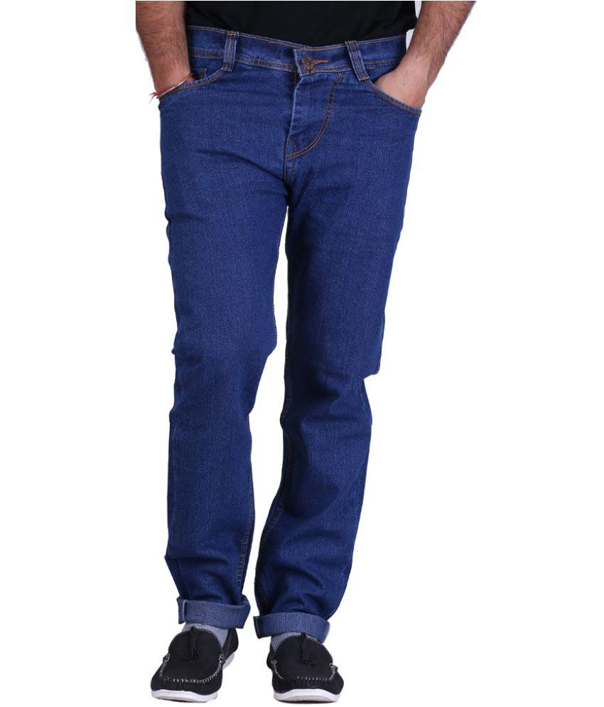 Haltung  Blue Cotton Regular Fit Denim Jeans