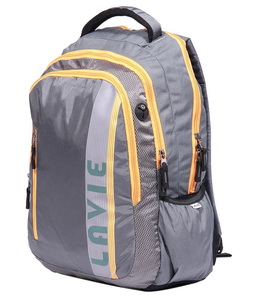 Lavie Prime 4 Grey Backpack No - Buy Lavie Prime 4 Grey Backpack No ... 7557f1128ec1f