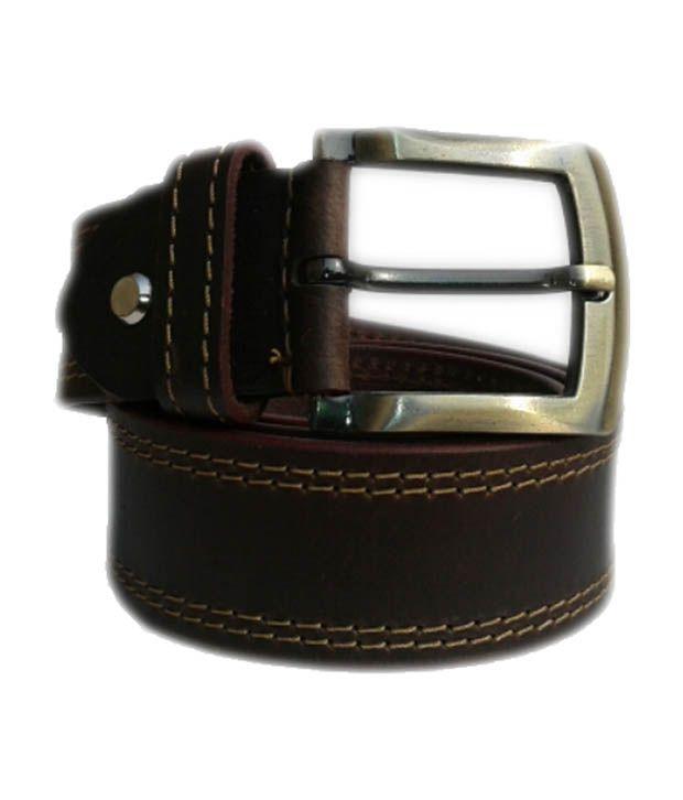 Nikhil Leather Brown Casual Belts For Men