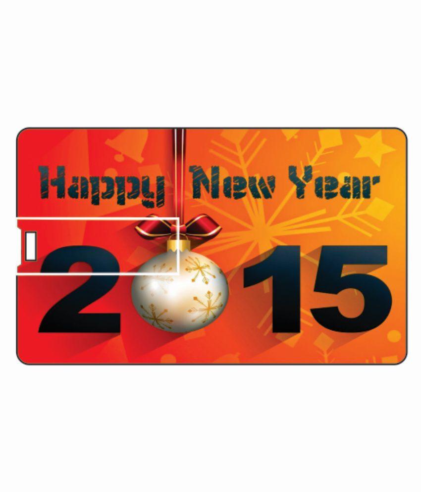 Printland Happy New Year 8 Gb Pen Drivesmulticolor