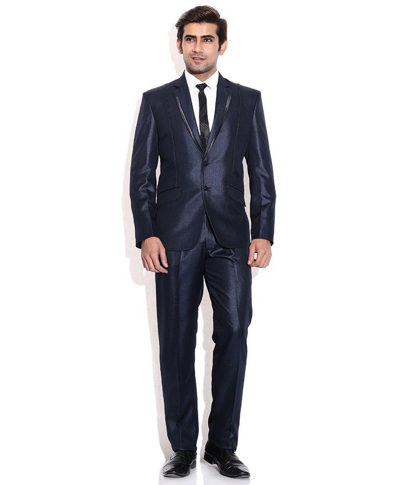 La Scoot Blue Colour Suiting Fabric Party Wear Designer Coat Pant