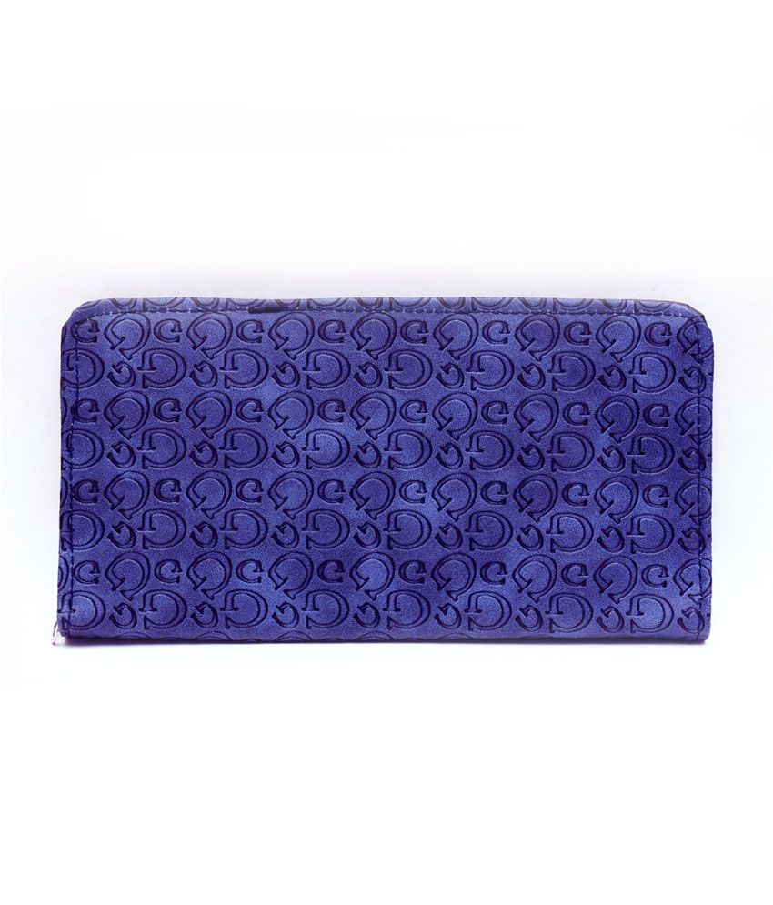 Hawai Sophisticated Blue Fashionable Long Wallet For Women