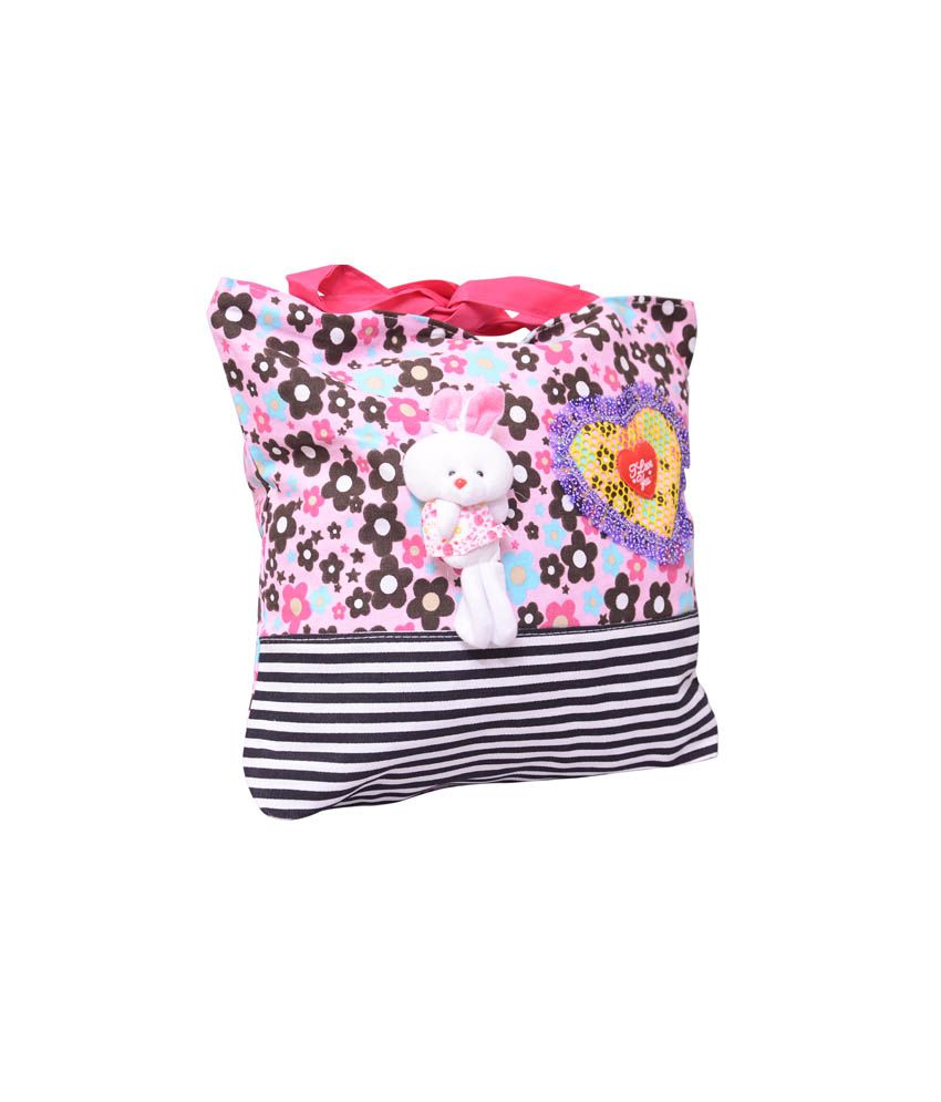 Peppy Flame Girls College Flowers Printed Handbag