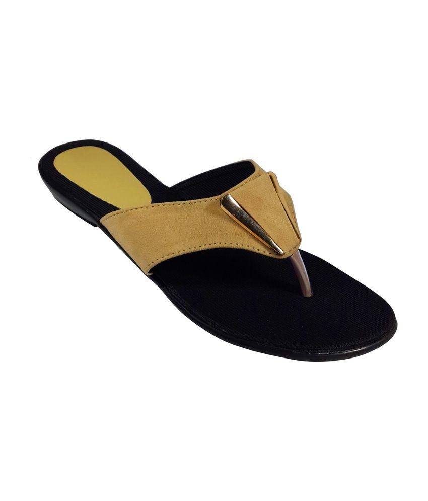 Plutos Brown Round Toe Flat Sandal