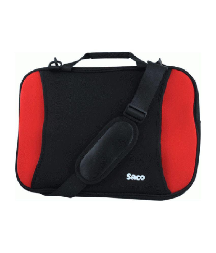 Saco Shock Proof Slim Laptop Bag For Lenovo Ideapad Z580 (59-333651) Laptop - 15.6 Inch