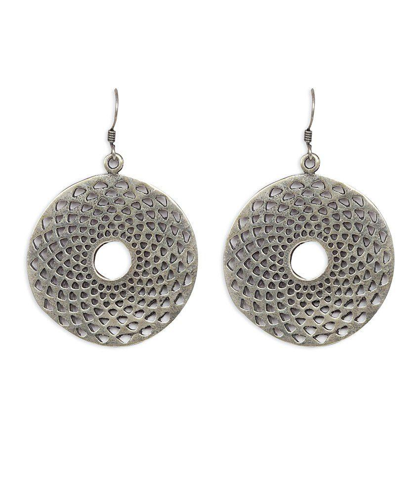 Silverwala 925 Silver Oxidised Earrings