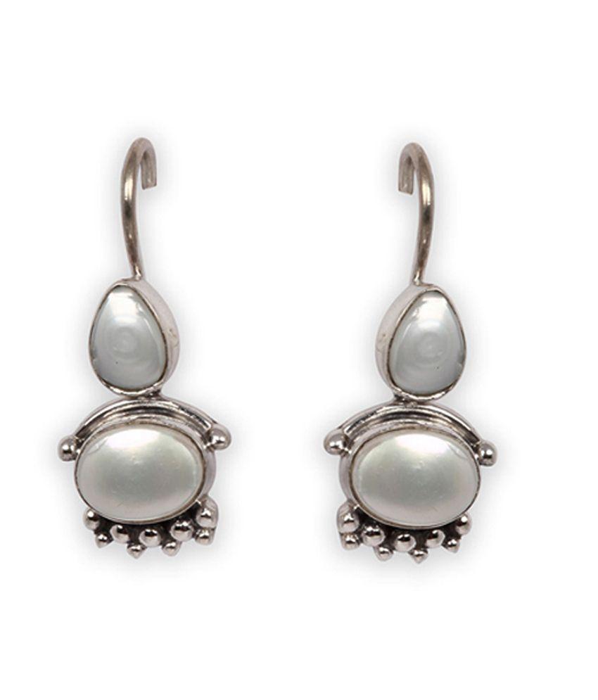 Silverwala 925 Silver Pearl Earrings