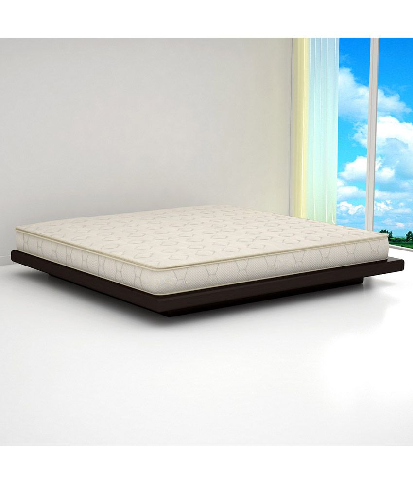 sleepwell king size tranquil spring mattress 75x72x6 inches
