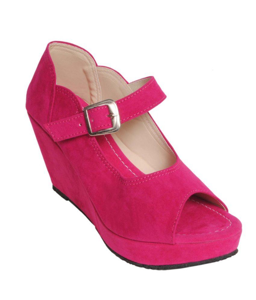 5151f660d Comfort Stepspink Eligent Party Wear Hot Pink Heels Price in India- Buy  Comfort Stepspink Eligent Party Wear Hot Pink Heels Online at Snapdeal