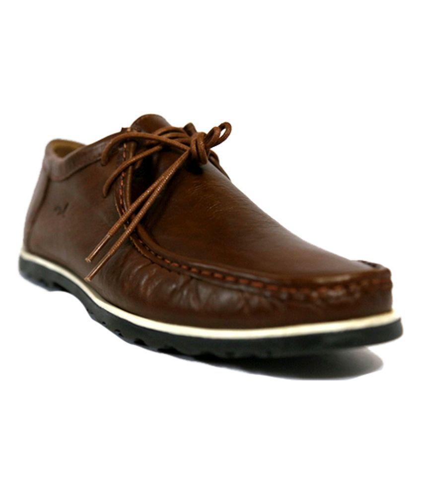 Mardi Gras Beige Leather Smart Mens Casual Shoes