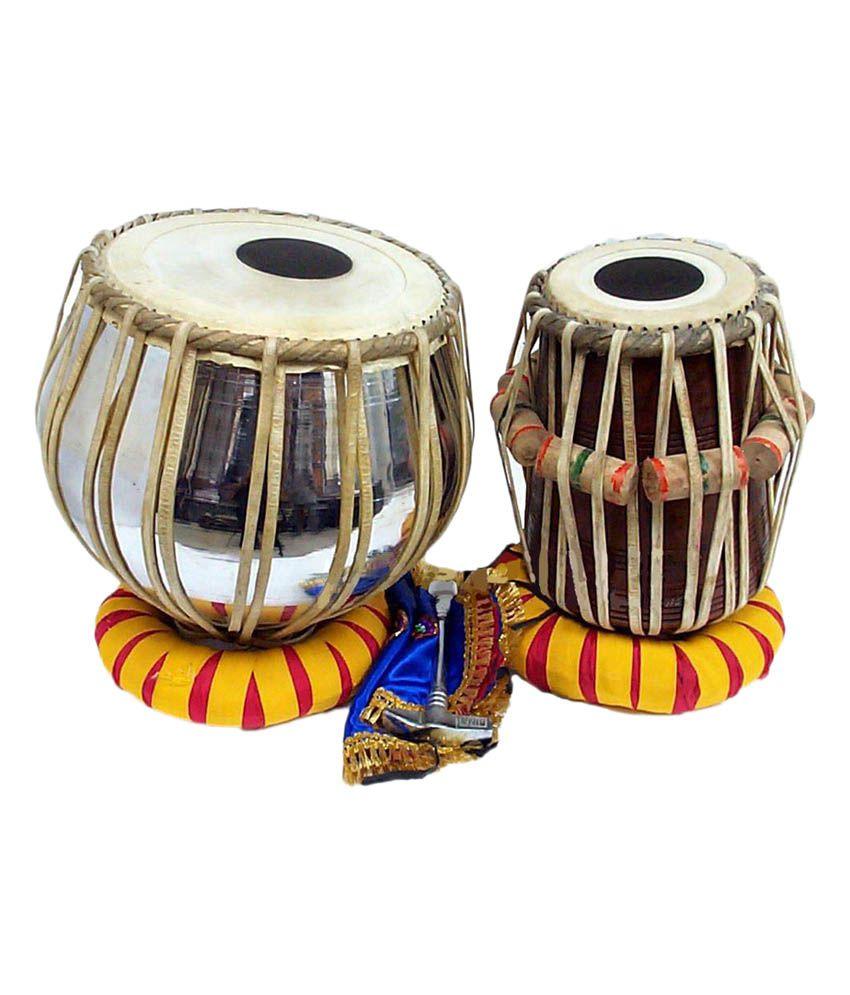 Indian Musical Instruments Tabla Spl Tabla Steel Pair: ...