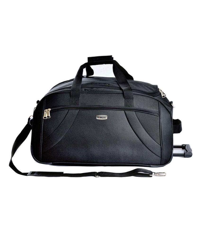 Timus Samprass 65 Black Wheel Duffle Luggage Trolley Bag