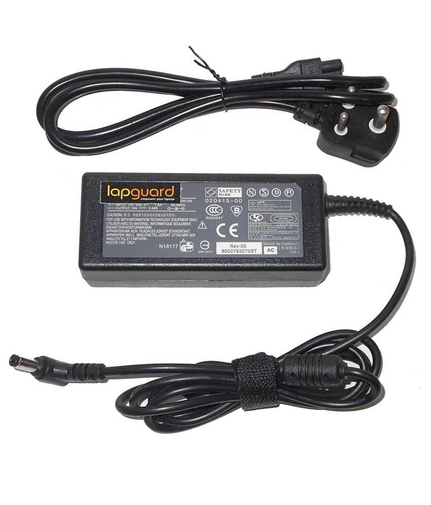 Lapguard Laptop Adapter For Asus N82jv-x1 N8avp-d2 N9 N90, 19v 3.42a 65w Connector