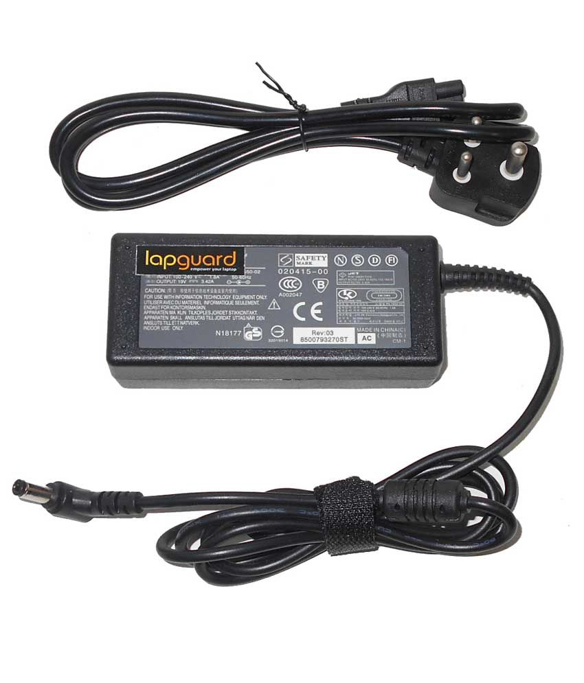 Lapguard Laptop Adapter For Toshiba Satellite L500-13n L500-13v, 19v 3.42a 65w Connector