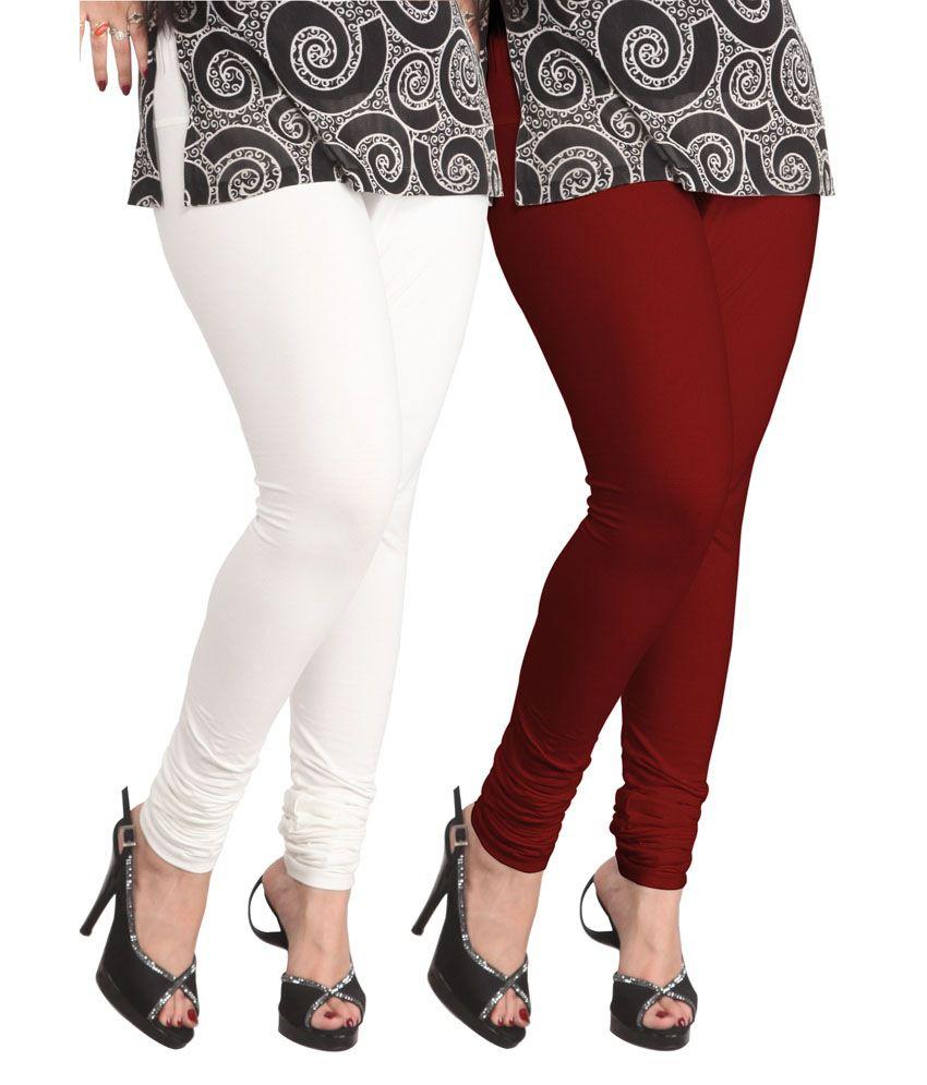 97f843cc84c10 Lux Lyra Multi Color Cotton Women's Leggings Price in India - Buy Lux Lyra  Multi Color Cotton Women's Leggings Online at Snapdeal