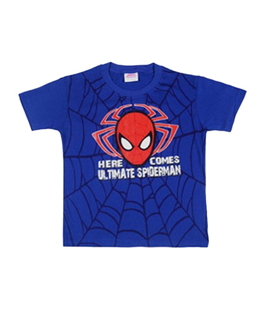 ea97dd6e Disney Spiderman Blue Color Printed T-Shirt For Kids - Buy Disney Spiderman  Blue Color Printed T-Shirt For Kids Online at Low Price - Snapdeal