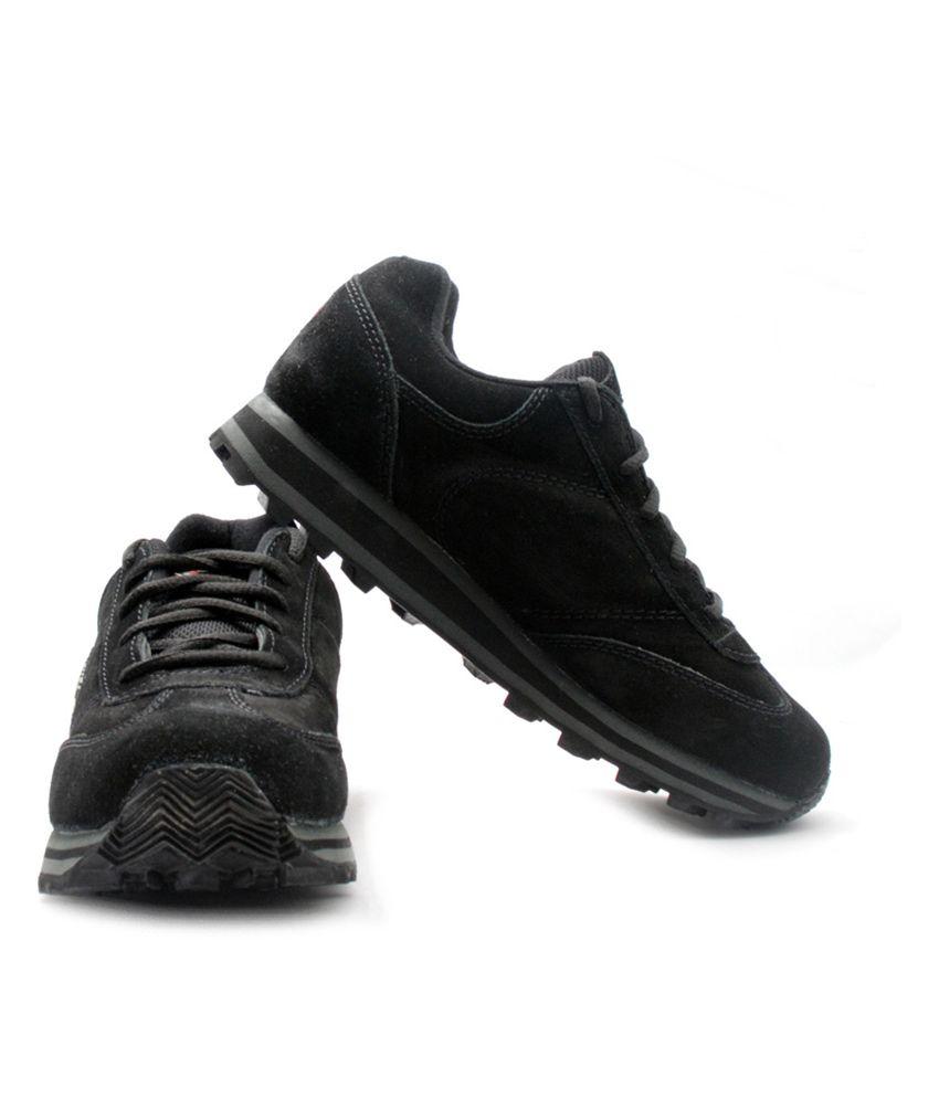 Lakhani Black Lifestyle Shoes - Buy