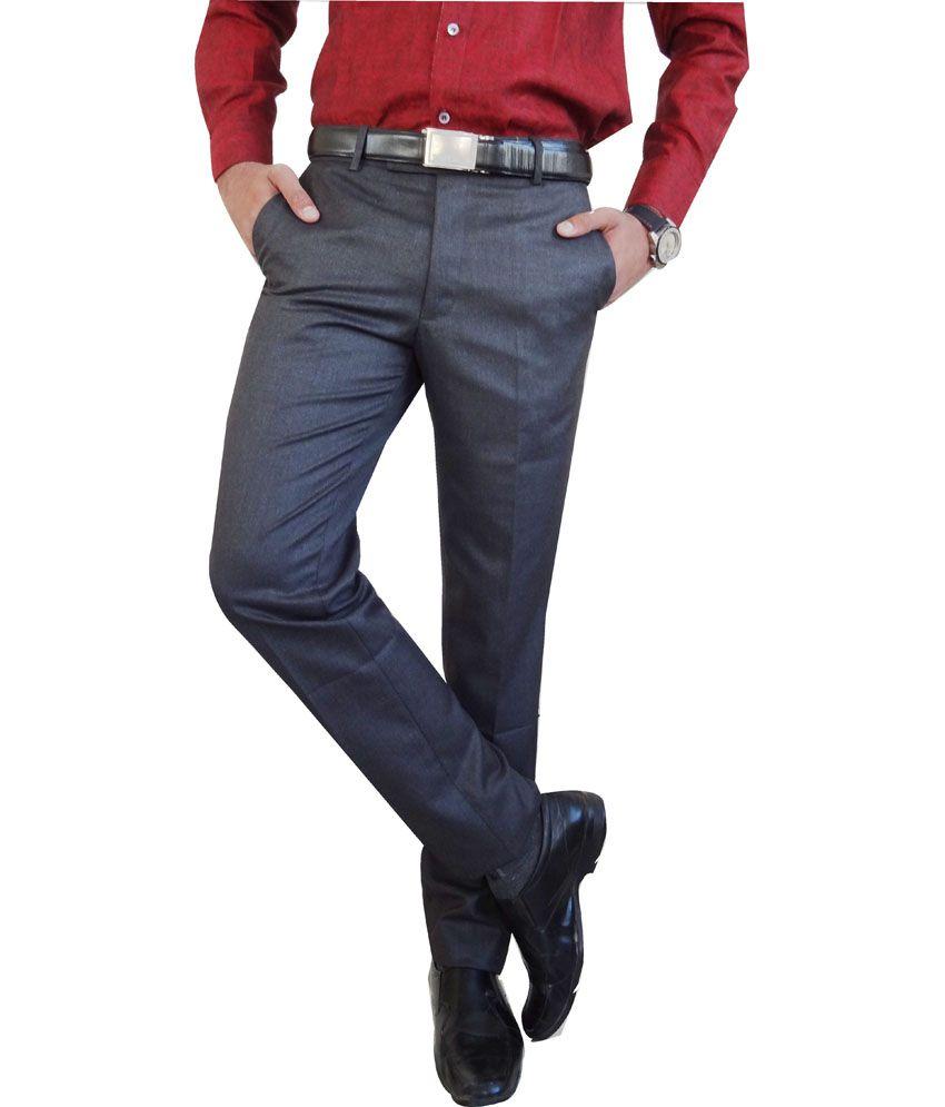 AD & AV Black Ultra-fine Woolen Blend Luxury Trouser
