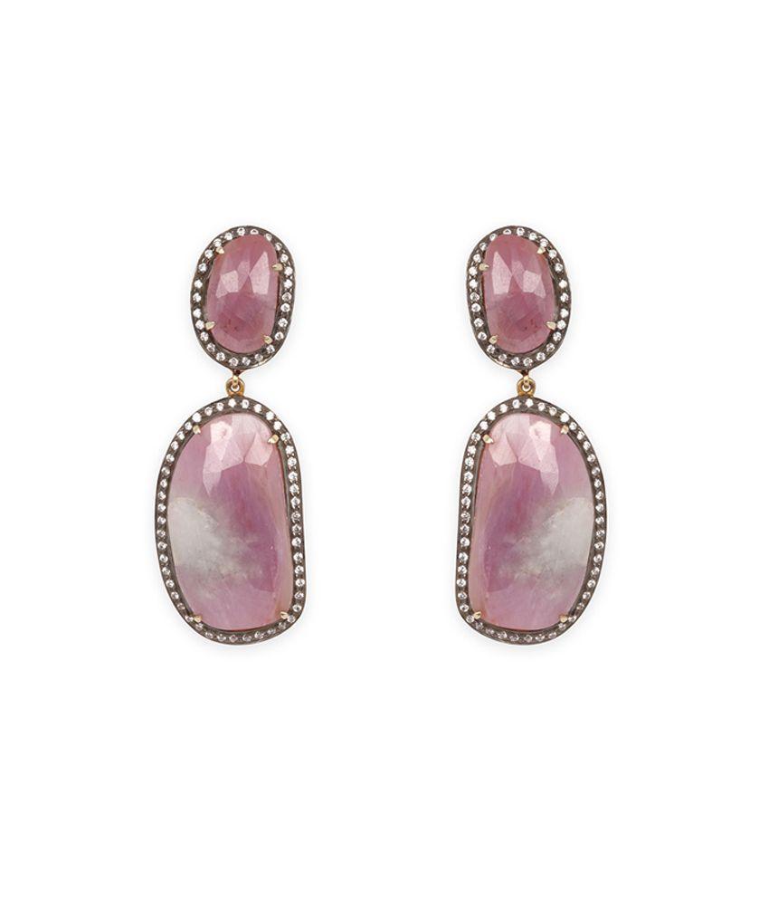 Silverwala 925 Silver Stone Earrings