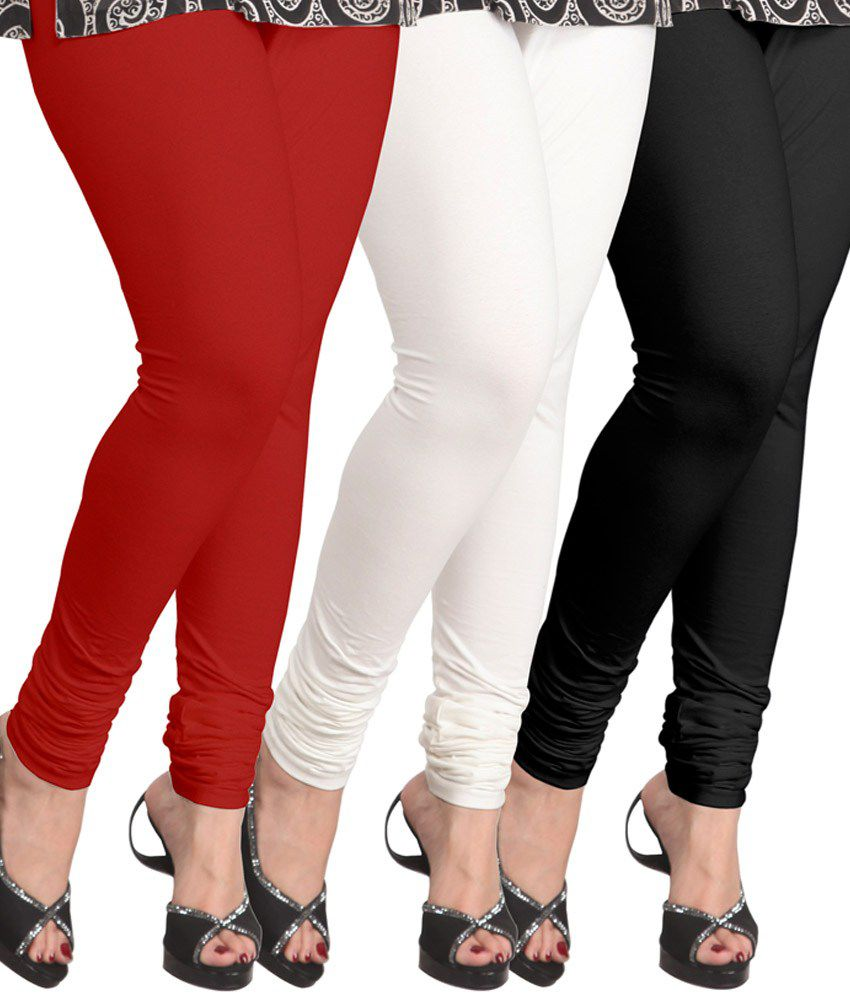 1a3d9cc39fce0 Lux Lyra Multi Color Cotton Leggings Price in India - Buy Lux Lyra Multi  Color Cotton Leggings Online at Snapdeal