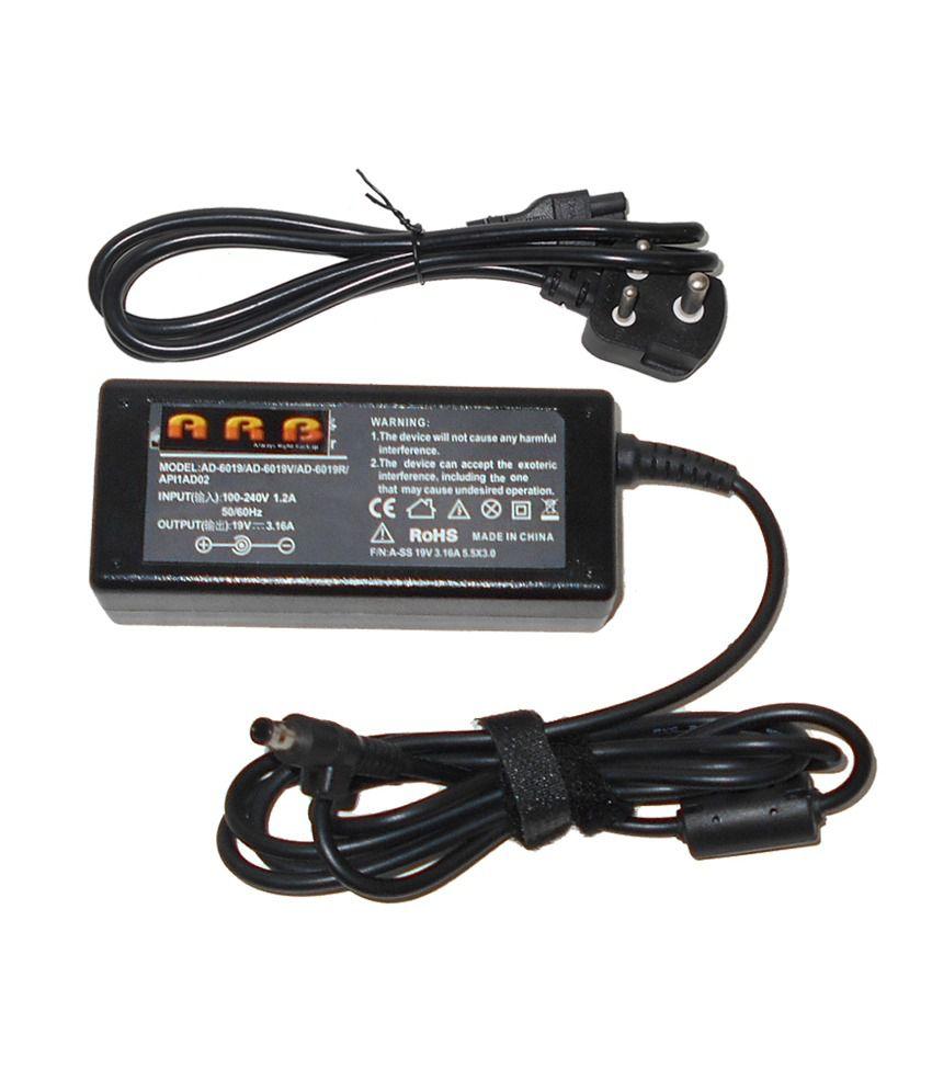 Arb Laptop Adapter For Samsung Np-se20-js01de Np-se21e 19v 3.16a 60w Connector