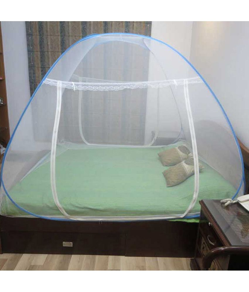 Baby bed online flipkart -  Healthgenie Double Bed Mosquito Net Blue