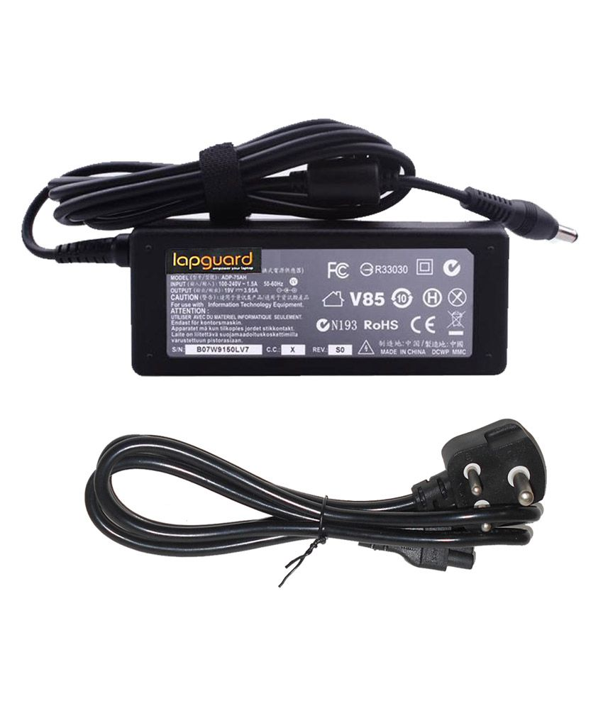 Lapguard Laptop Charger For Toshiba Satellite Pro U400-12y U400-130 19v 3.95a 75w Connector