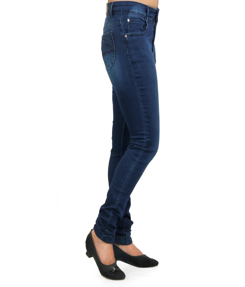 093574f2bdce3 Buy Fck-3 Women Blue High Waist Designer Jeans Online at Best Prices ...