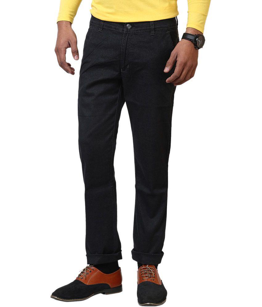 Jctex Men's Black Designer Lycra Trouser
