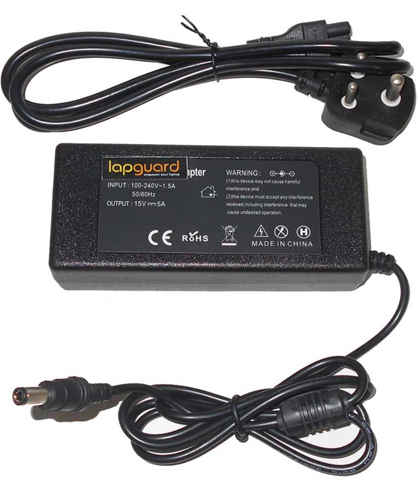 Lapguard Laptop Adapter For Toshiba Satellite L300-18d L300-18e L300-19q, 19v 3.95a 75w Connector