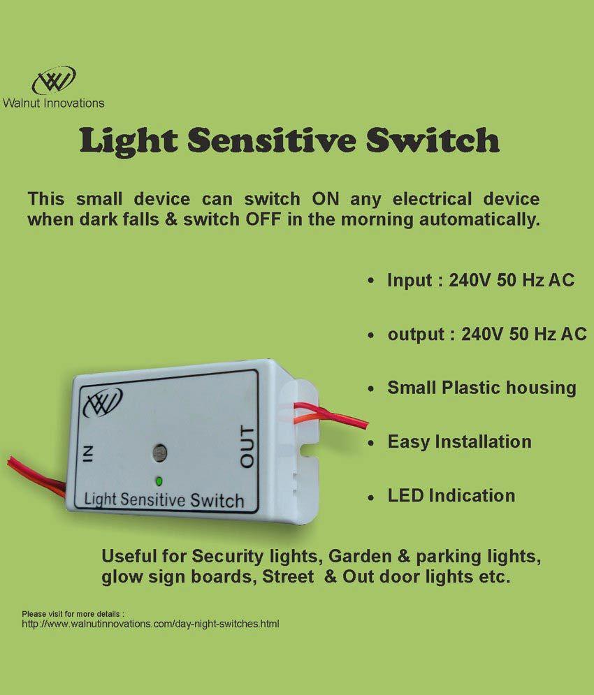 ... Light Sensitive Switch, Automatic Light Switch ...
