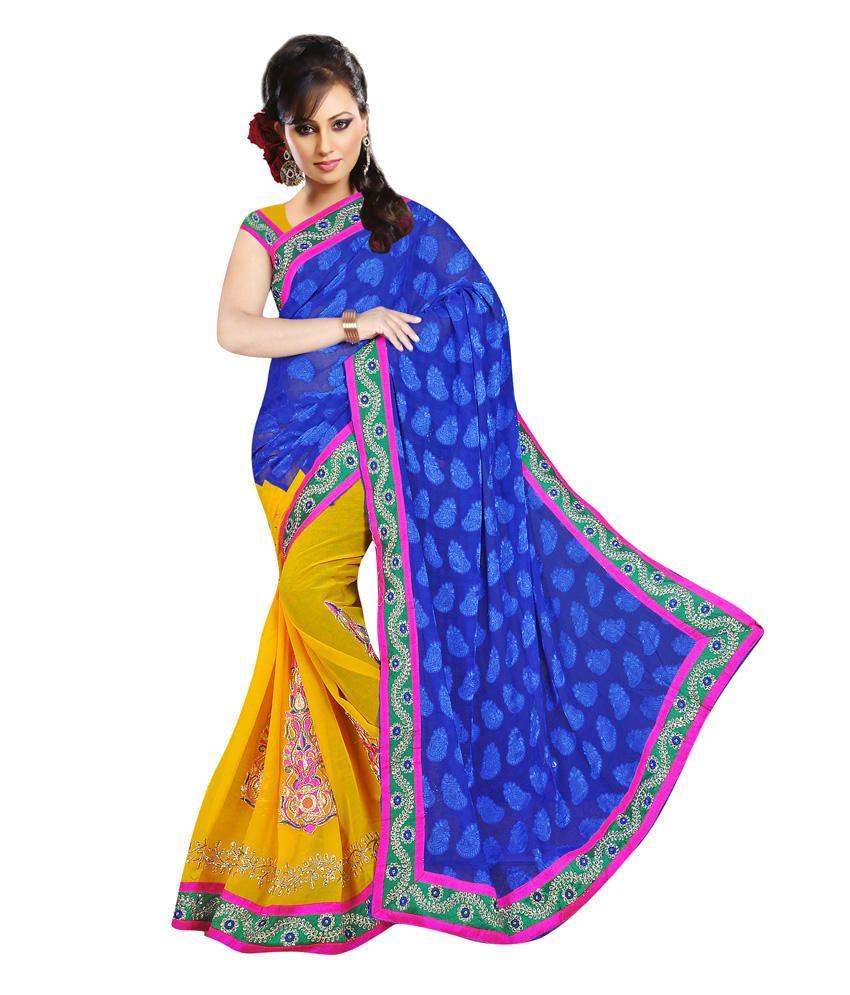Sonika Multicoloured Chiffon Saree