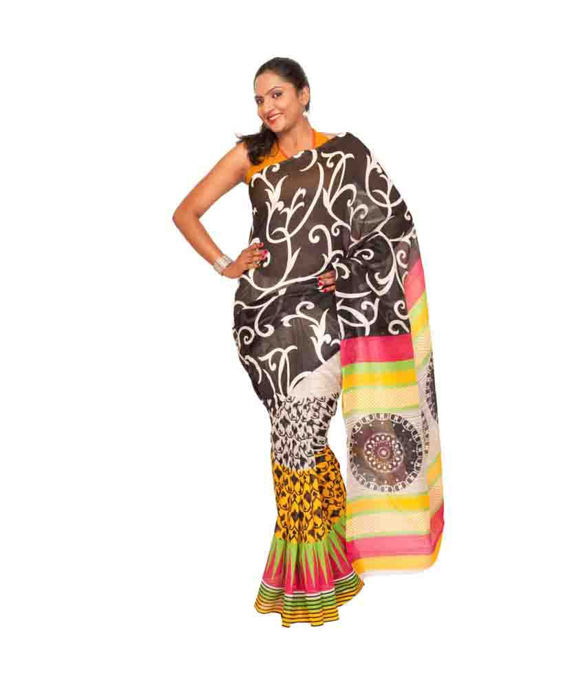 Kashvi Multi Color Art Silk Saree