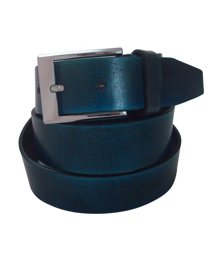 Rigado Turquoise Genuine Leather Belt for Men