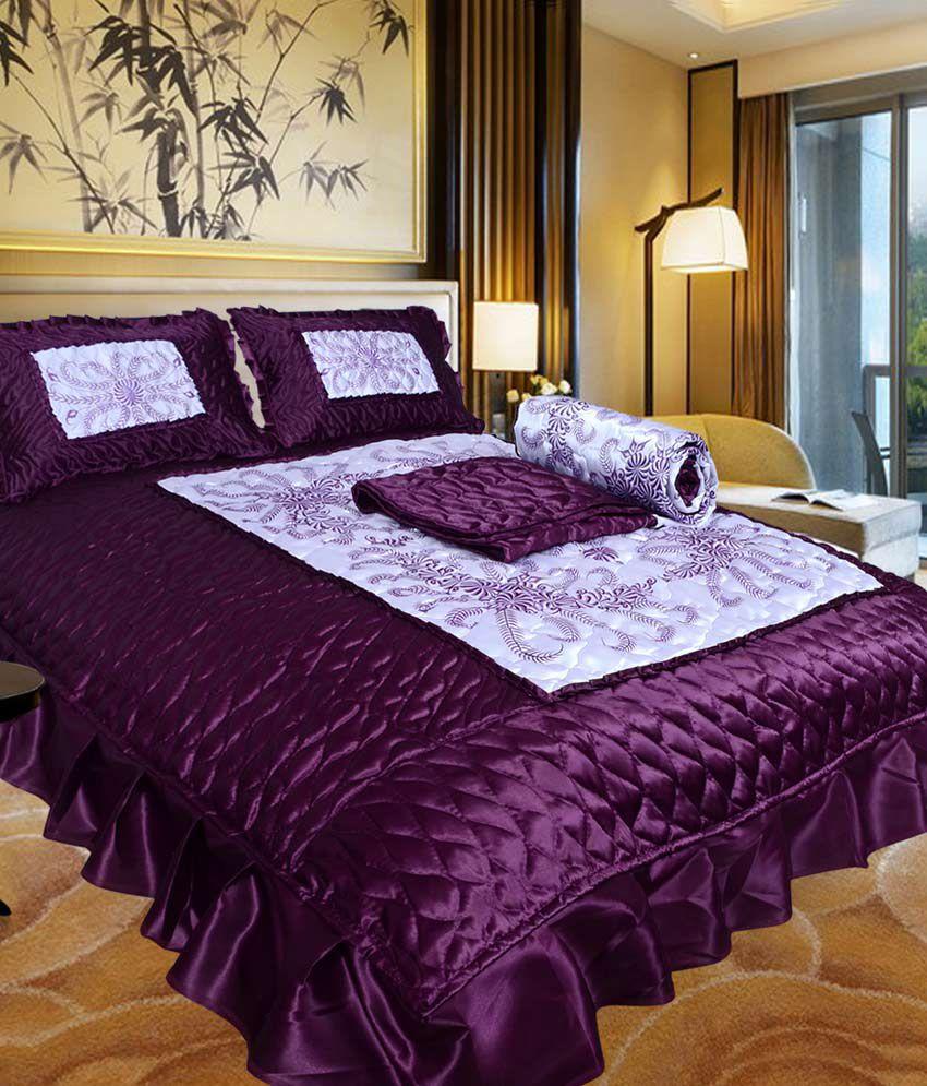 Urban Style Designer Satin Double Bed Wedding