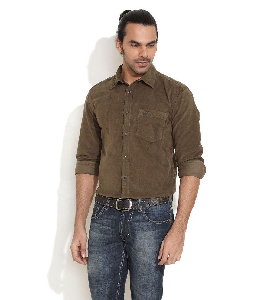 1730cc185ff6 Wrangler Brown Corduroy Shirt - Buy Wrangler Brown Corduroy Shirt Online at  Best Prices in India on Snapdeal
