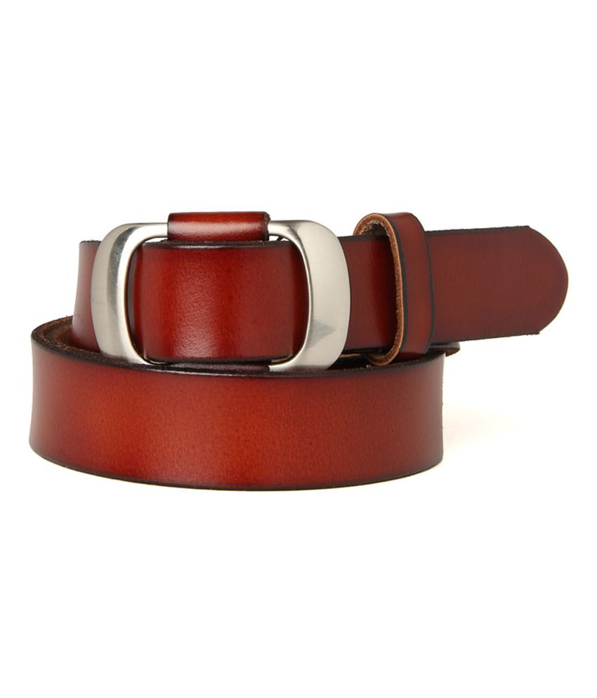 Guava Maroon Leather Single Casual Belt