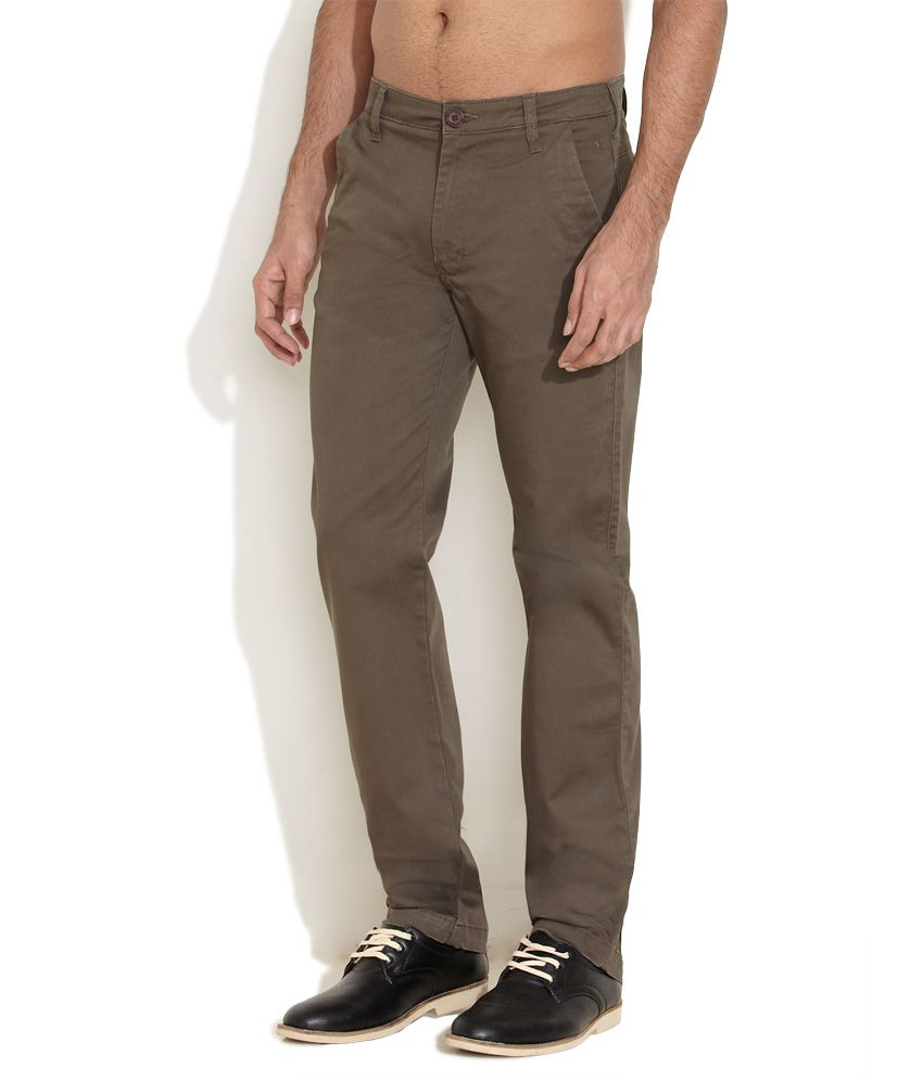 Wrangler Olive green Willow Hint Chinos