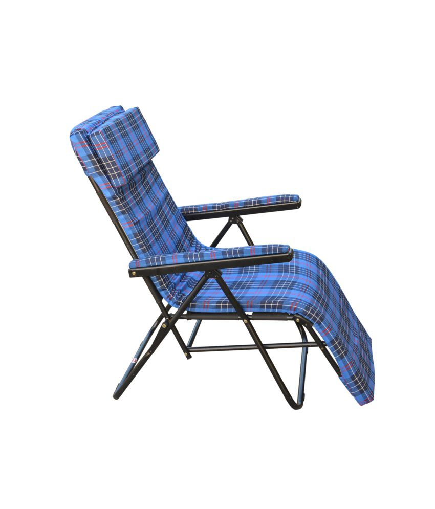Recliner Chair With Cushion In Blue Buy Recliner Chair