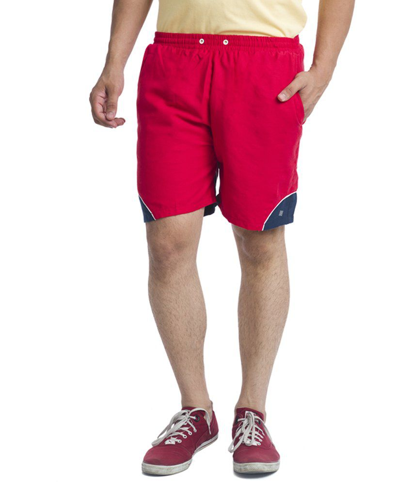 Nu9 Red Polyester Short