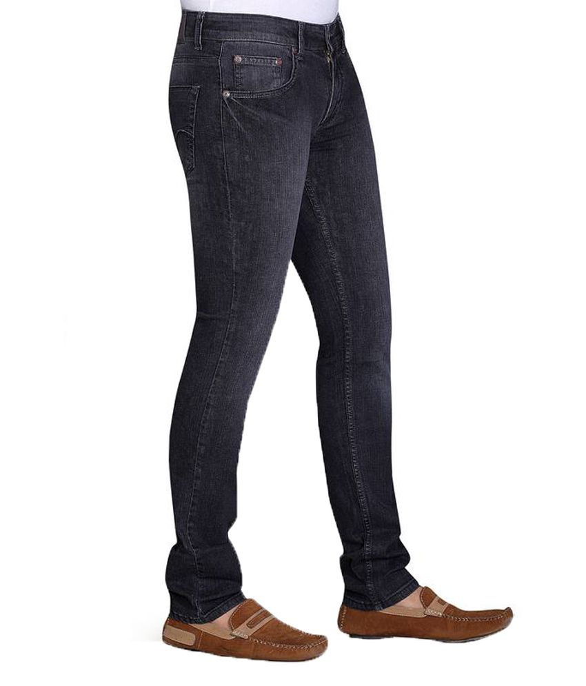 c821c2943559 Klix Jeans Black Cotton Tapered Men's Jeans - Buy Klix Jeans Black Cotton Tapered  Men's Jeans Online at Best Prices in India on Snapdeal