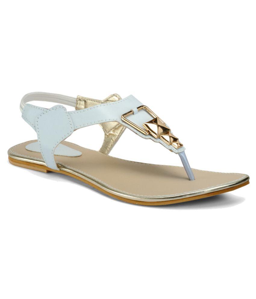 Nell White Sandal