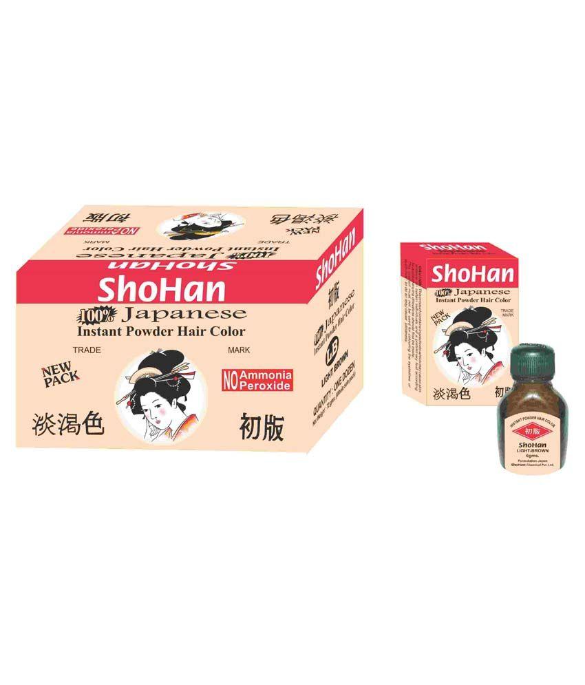 Shohan Styling Normal Hair Colour & Dyer Light Brown - Set Of 24