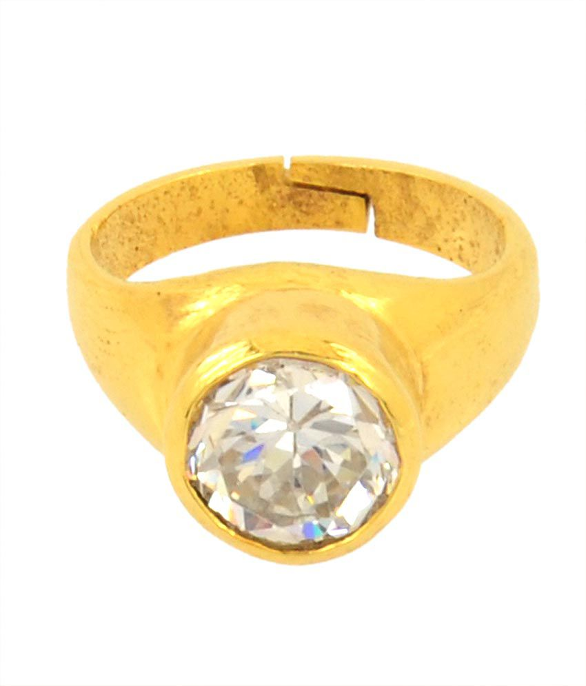 Bello 5.25 Ratti Lab Certified Zircon Astrological Ring In Panchdhatu