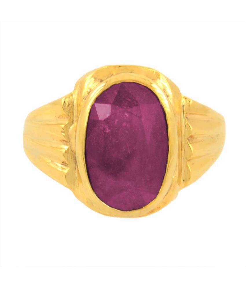 Bello 5.25 Ratti Lab Certified Ruby (manik) Gemstone Ring In Panchdhatu